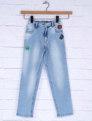 Ruff washed blue color jeans for boys