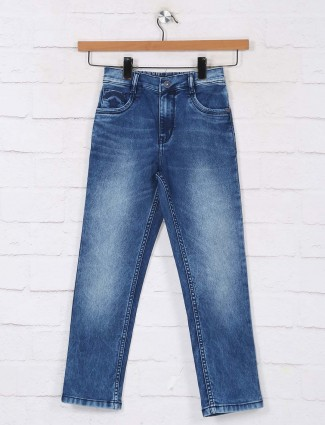 Ruff washed blue jeans for boys