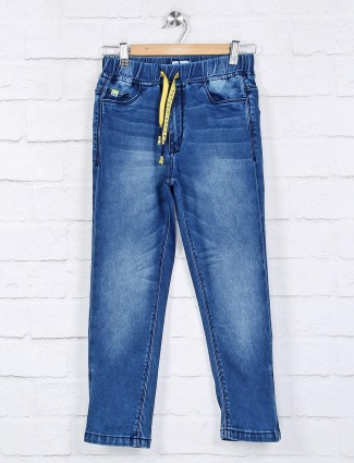 Ruff washed blue stunning boys jeans