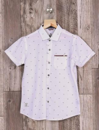 Ruff white slim fit shirt