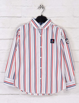 Ruff white stripe casual wear shirt