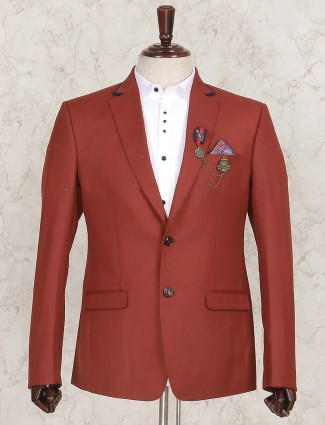 Rust orange blazer for wedding function