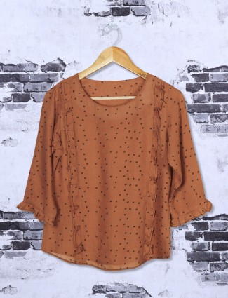 Rust orange casual top