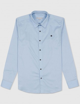 Scratch light blue mens casual shirt