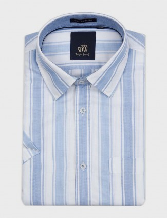 SDW stripe blue and white printed shirt