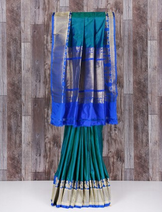 Silk blue wonderful saree