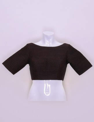 Silk fabric black color ready made blouse