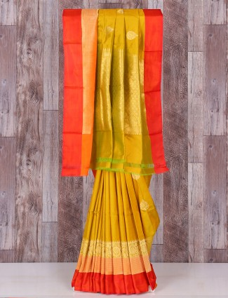 Silk gold wedding saree