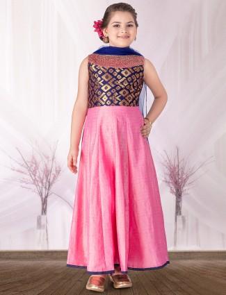 Silk pink salwar suit
