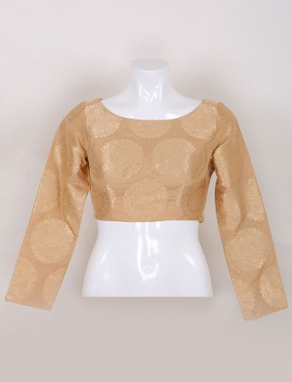 Silk ready made gold ready made blouse