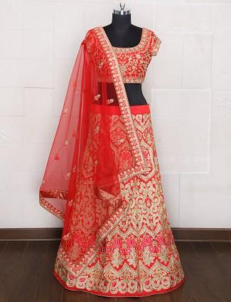 Silk unstitched lehenga choli for weddings