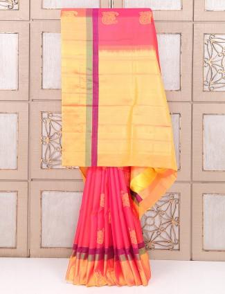 Silk wedding pink pretty saree