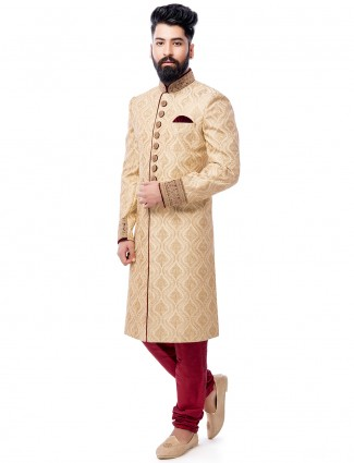 Silk wedding wear awesome sherwani