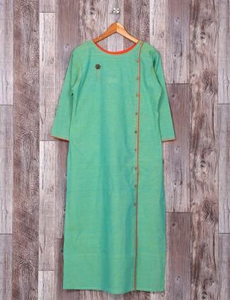 Simple casual wear cotton green kurti