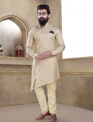 Simple cream color kurta suit