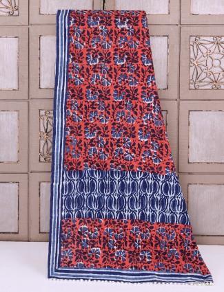 Simple maroon color cotton saree