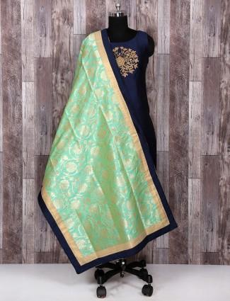 Simple Navy color salwar suit