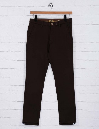 Sixth Element brown hued slim fit trouser