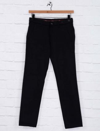 Six Element cotton fabric casual black trouser