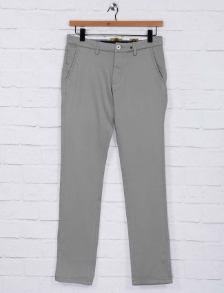 Sixth Element light grey cotton casual trouser