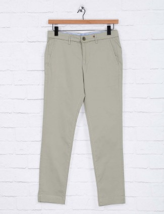 Sixth Element olive cotton fabric casual trouser