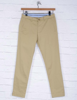 Six Element solid beige hue trouser