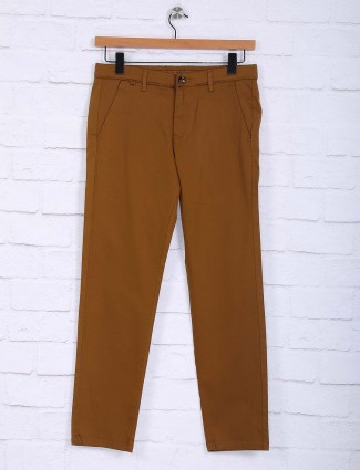 Sixth Element solid brown hue trouser