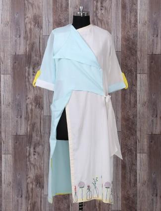 Sky blue color designer palazzo suit