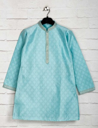 Sky blue festive function kurta suit