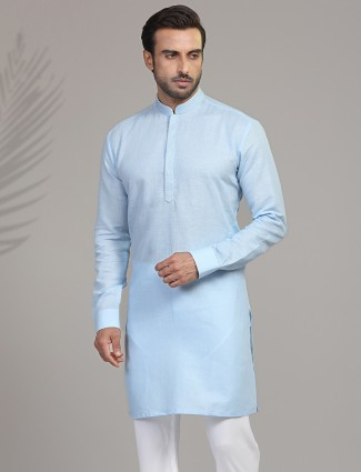 Sky cotton only kurta for festive