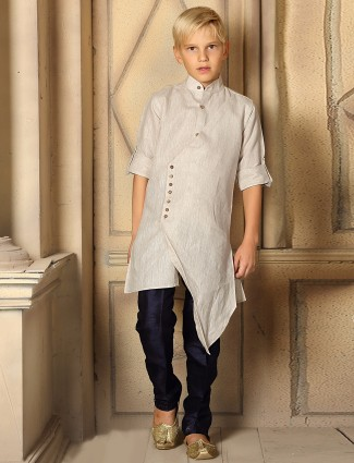 Solid beige hue designer kurta suit