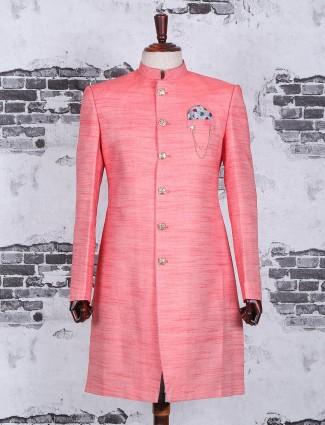 Solid festive wear pink indo western