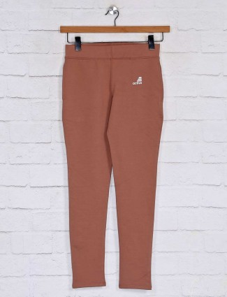 Solid grey cotton casual track pant