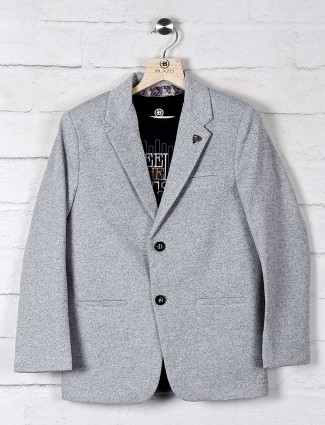 Solid grey terry rayon boys blazer