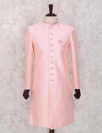 Solid pink wedding indo westerm