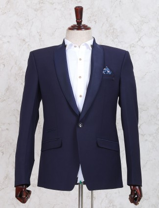 Solid royal blue coat suit