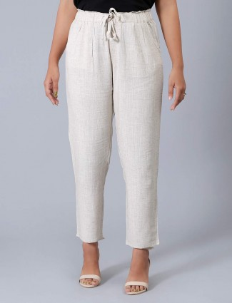 Solid white womens pyjama in linen