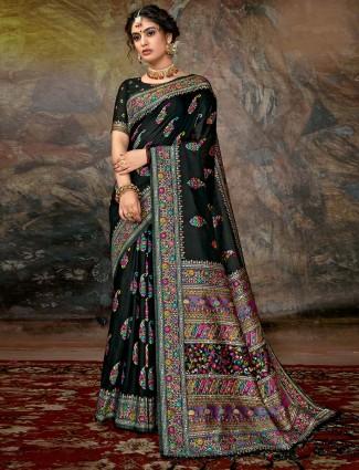 Splendid banarasi silk wedding saree