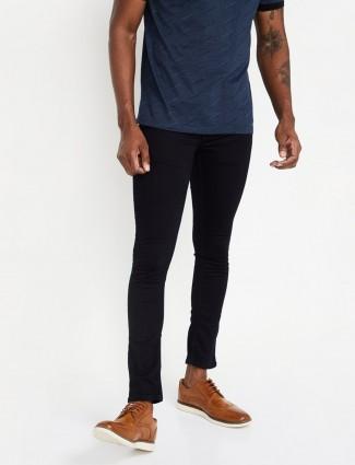 Spykar dark navy solid slim fit jeans