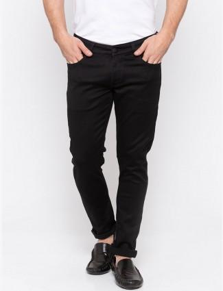 Spykar jed black color solid mens jeans