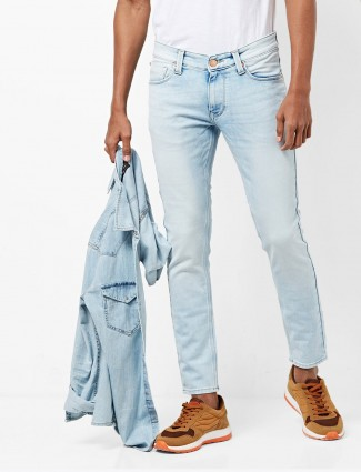 Spykar light blue denim mens jeans