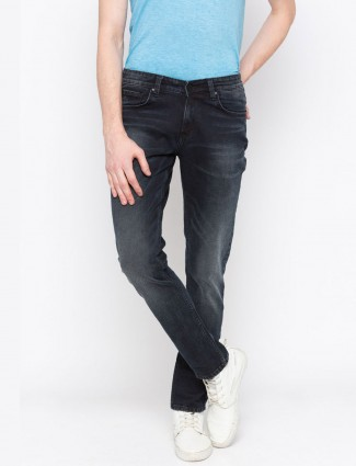 Spykar navy colored solid jeans
