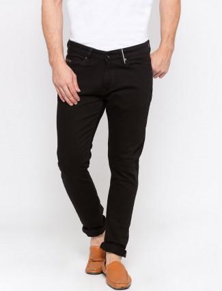 Spykar presented black color solid jeans