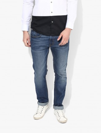 Levis solid blue casual wear jeans