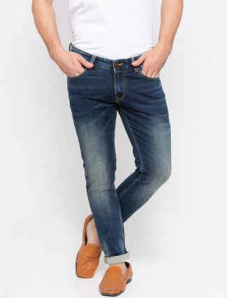 Spykar solid blue hued jeans