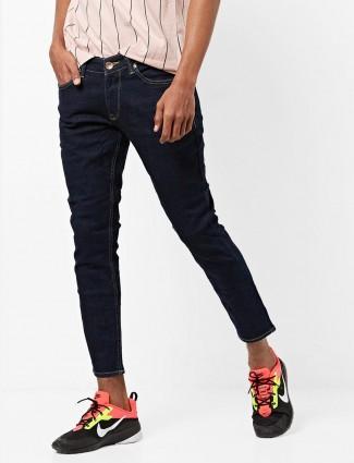 Spykar solid navy hued jeans
