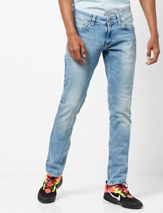 Spykar washed blue colored jeans