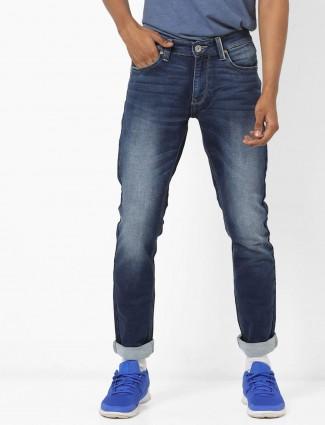 Spykar washed navy hued jeans