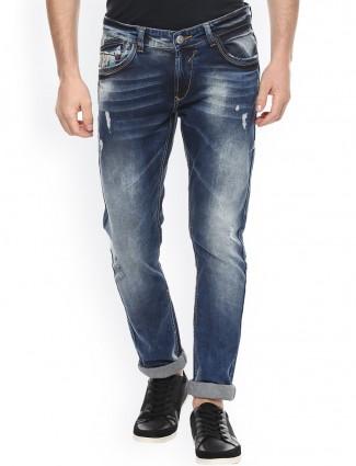 Spyker blue casual wear denim jeans