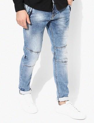 Spyker blue denim slim fit jeans